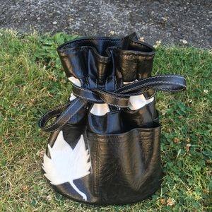 Vintage Maple Leaf Bucket Bag